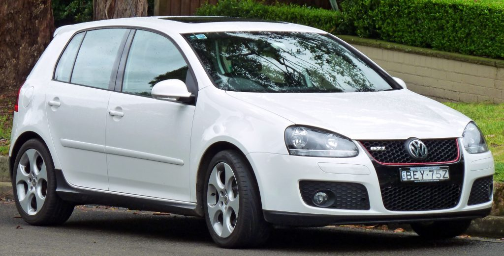 Modèle de voiture Golf de Volkswagen